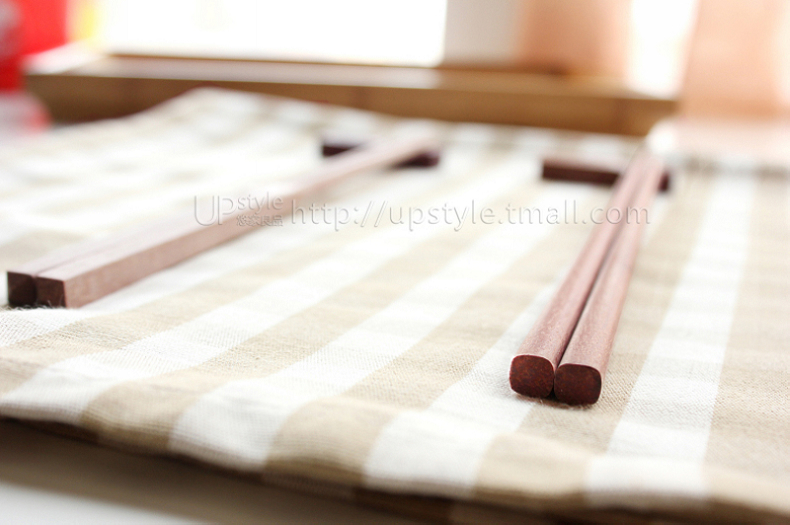 Yau home Ichiban You ebony chopsticks portable home Ichiban red suit ten pairs of cutlery green wood without lacquer chopsticks without wax