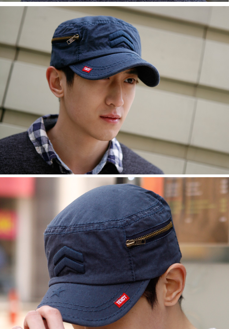 rayli cotton embroidery cap for men and women General Korean version of the baseball cap influx of people flat-topped cloth hat JM29