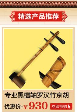 送配件 专业演奏 西皮二黄 精品高级紫竹黑檀轴京胡乐器 6704 江音