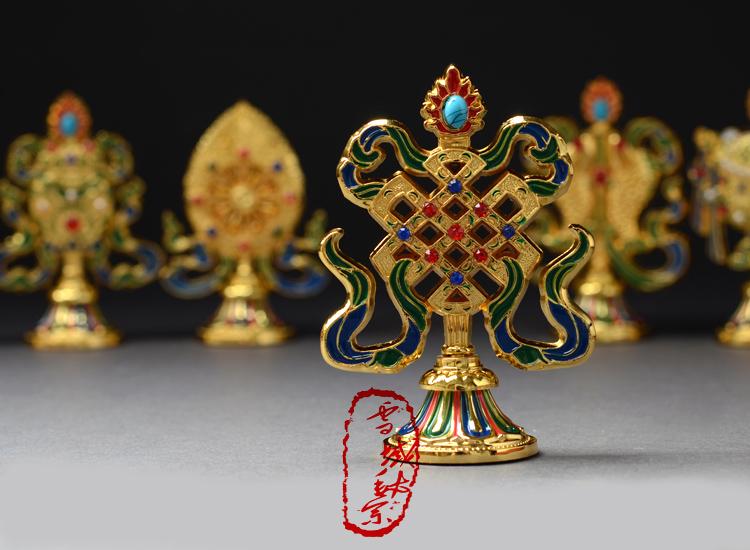 Декоративные украшения Почта/поставки/восемь благоприятные статей тантрические тибетский буддизм учит, что восемь повезло повезло восемь 4-дюймовый украшения послал буддийские четки