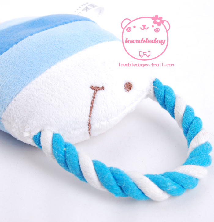 Lovabledog 16CM tropical fish dog toy plush talking pet toy tri-color sound toy pet products