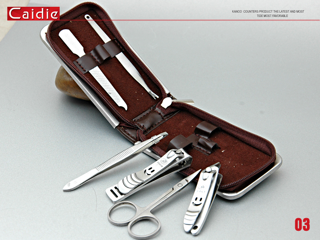 Caide Simple Stainless Steel Manicure Set 6Pcs