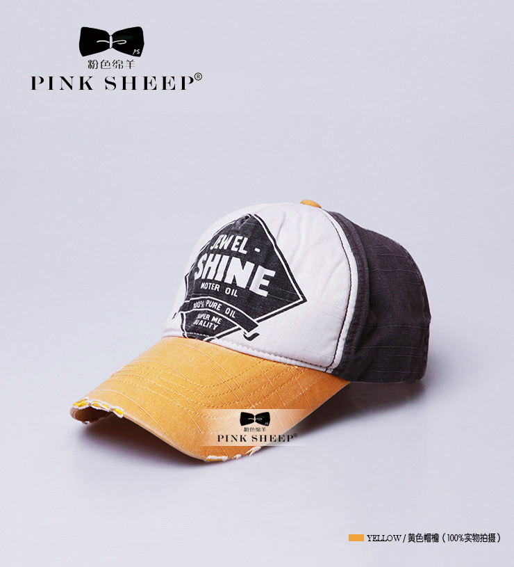 The pink sheep summer hat men's baseball cap female spring and summer Ms. the day Korean version surge hat outdoor
