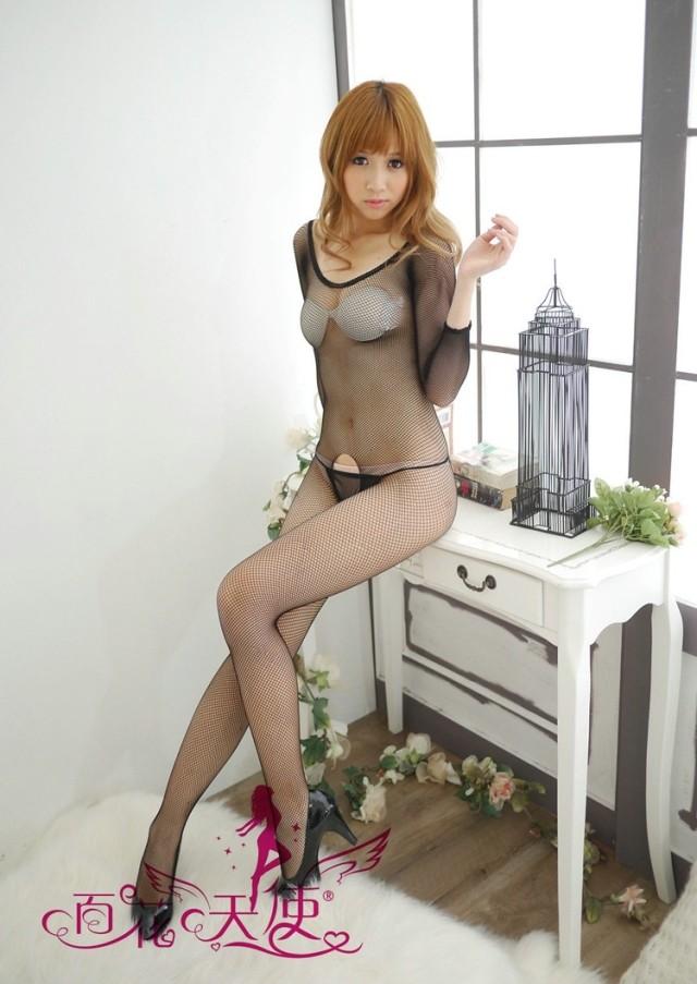 Veegol-HG Classic Mesh Round Collar Sleepwear Women Body Stockings