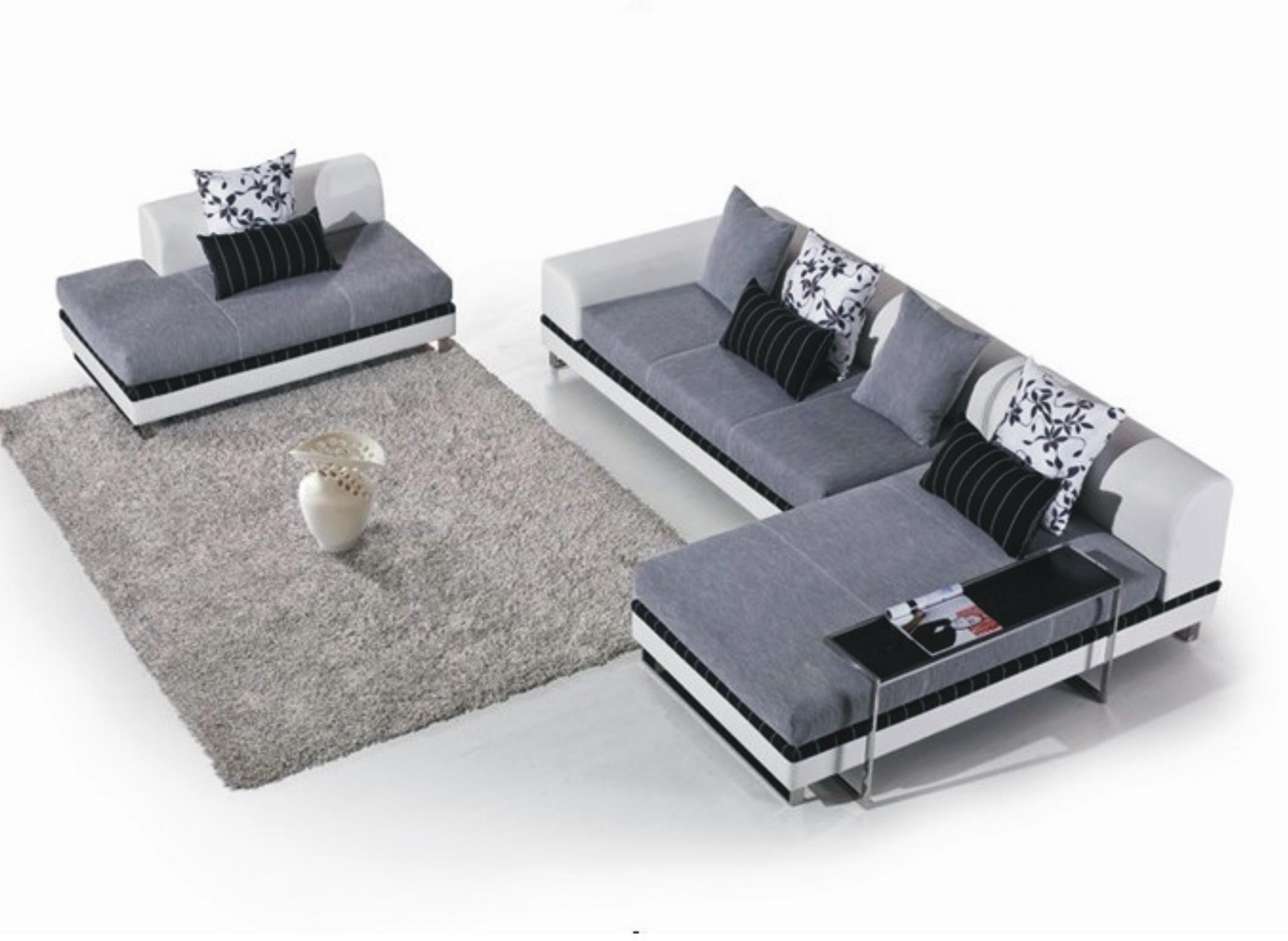 皮布结合沙发图片_