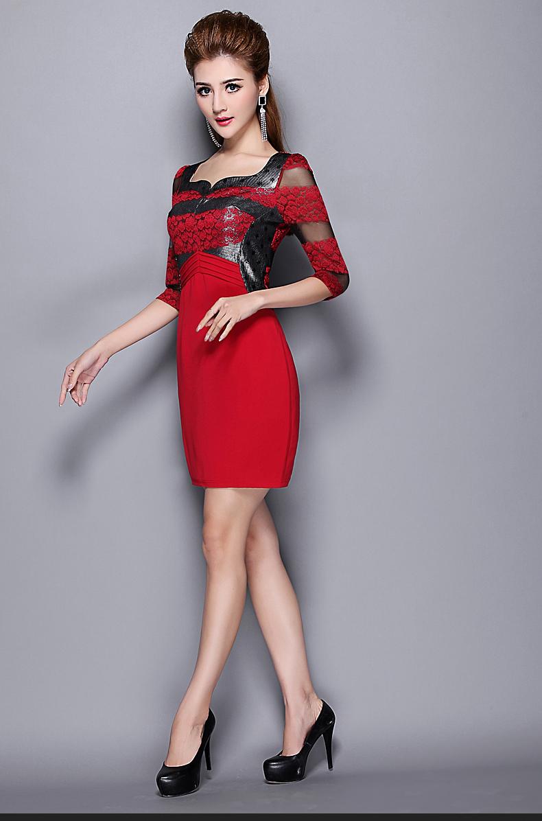 ╭*★*╯2015春装新款法式高端品牌时尚连衣裙╭*★*╯(1126) - ★‰永恒∫★ - ★‰永恒∫★博客