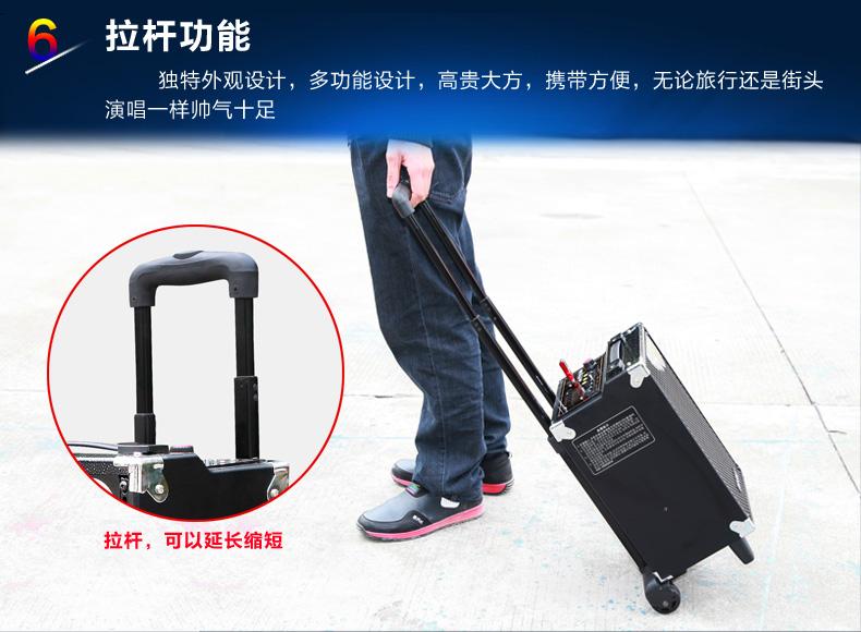 热款9002大功率8寸户外拉杆音响摆摊促销专业电瓶音响图片_12