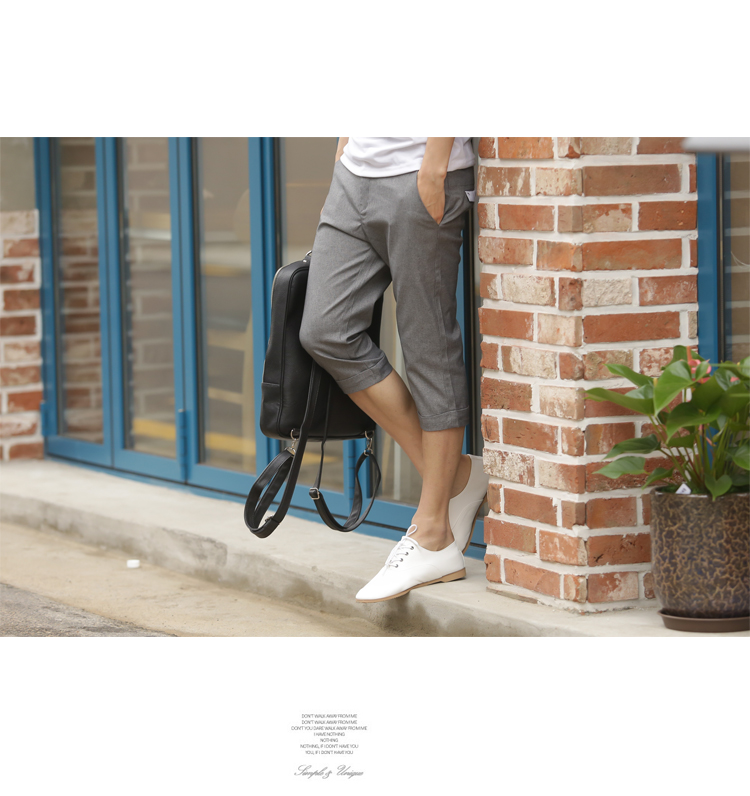 Geshi Summer Casual Cotton Linen Men Slim Version Of The Influx Capri Pants