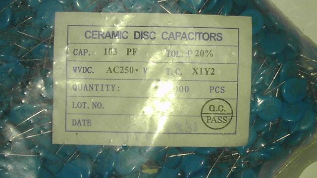 Конденсатор Подлинная высокого напряжения керамический конденсатор диэлектрические 103p/250vac диаметр 12 мм, 1000/мешок, 0,15 юаней/a