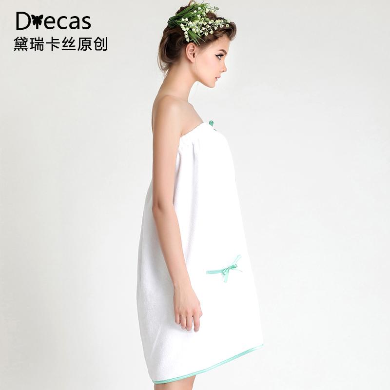 Пижама Dairuikasi осень/зима новый стиль леди сгущаться послал полотенец ванна юбка с белым груди одеяние прекрасные купальные халаты