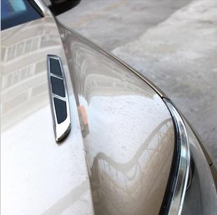 автоаксессуар Стороне воздуха выход капот автомобиля акула жабры, наклейки на бампер украсить изменение Mitsubishi крыло Бог Юго-Востоке новых ослеплять ASX