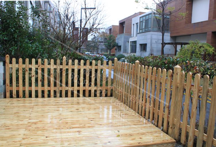 庭院子大型木篱笆栅栏 围栏护栏 木围墙 隔离栏杆苏州制作加工