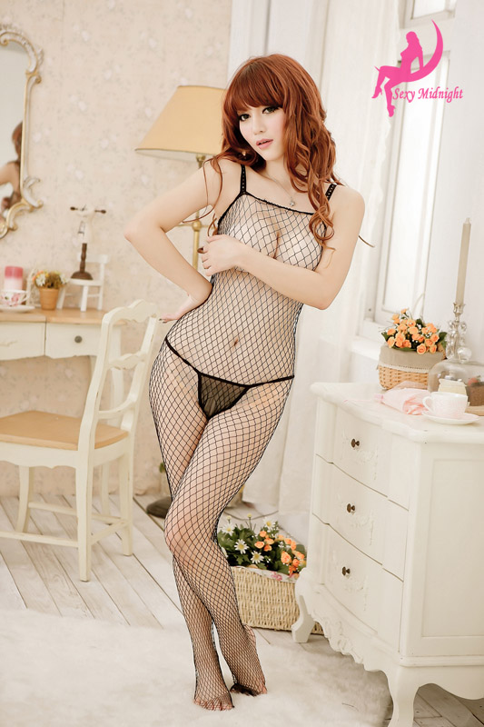 Veegol-HG Sexy Durable Transparent Charm Solid Mesh Body Stockings