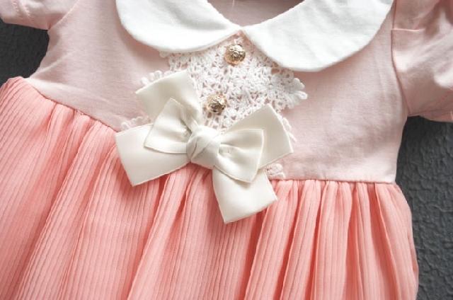 Tide 2013 new summer models girls baby children cotton short-sleeved dress chiffon dress princess dress crumple
