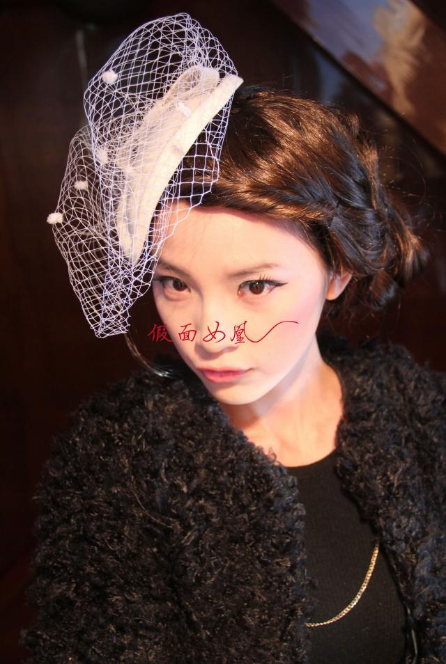 Mask Queen  Beautiful Bridal Wedding Fascinators Birdcage Veils