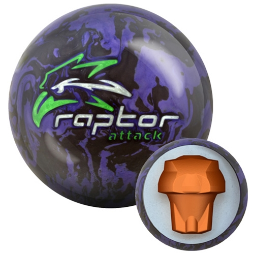 Шар для боулинга Мотив bowling_raptor attack15, 14 фунтов.