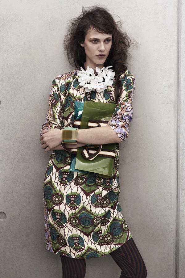 Сумка Купить новый Marni на h & m моды Неделя 2012 Оливковая зеленая сумочка