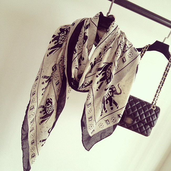 шарф Дикие супер похвалы солнечный осенний слонов большой национальной ветер Хлопок платок шарф Шарфы прямоугольные полотенце искусства вентилятор
