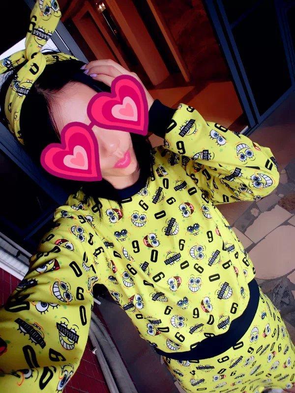 2 пакет почта 5! ve японский Harajuku стиль жареный цыпленок мило свитер юбка костюмы с Губка Боб Квадратные Штаны Вэй ци