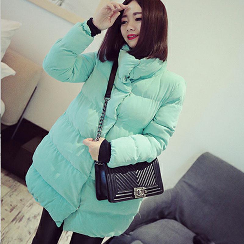 Женская утепленная куртка Осень/зима 2014 установил новую версию корейских женщин в длинный толстый пушистый двубортный теплый мягкий хлопок шерсть прилив