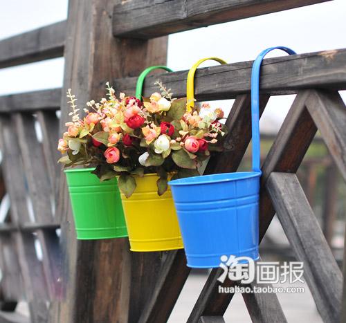 欣赏--挂在墙上的浪漫花盆(图) - 酷卖潮物~吧 - 酷卖潮物~吧