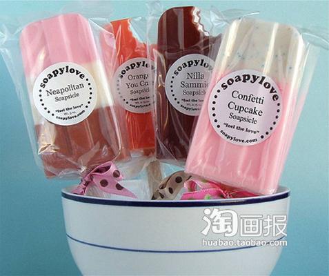 粉嫩嫩的冰棒香皂