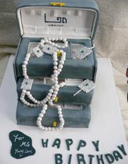 可以戴的首饰~最佳礼物高仿真创意翻糖蛋糕