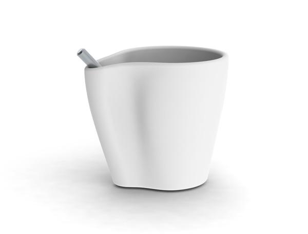 设计让生活更美好-----防止勺子随意滑动功能的咖啡马克杯 - 燕泥陶语 - 弄泥满衣